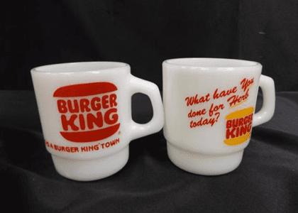 バーガーキングマグカップ2点
