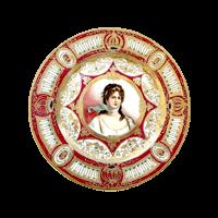 【皿】西洋アンティーク・クイーンルイーズ絵皿(オールドノリタケ)